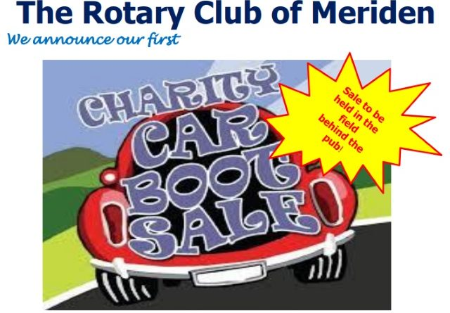 The Meriden Rotary Charity Car Boot Sale – 9th Sept 2017