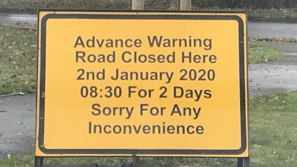 Road Closure – Broad Lane